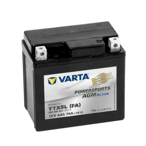 Varta Powersports AGM Active YTX5L-4 / YTX5L-BS 12V 4Ah akkumulátor - 504909