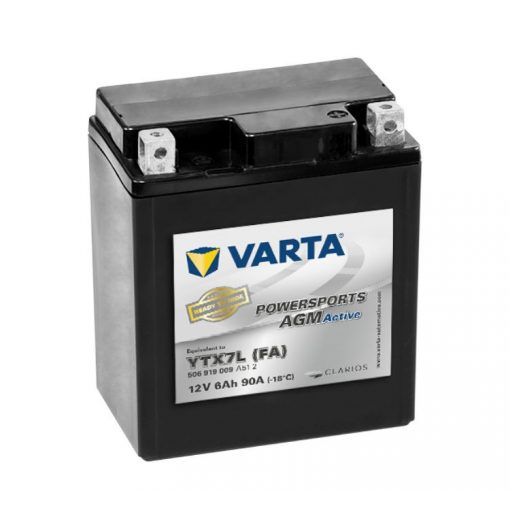 Varta Powersports AGM Active YTX7L-4 / YTX7L-BS 12V 6Ah akkumulátor - 506919