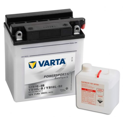 Varta Funstart Freshpack 12N10-3B / YB10L-B 12V motorkerékpár akkumulátor - 511013
