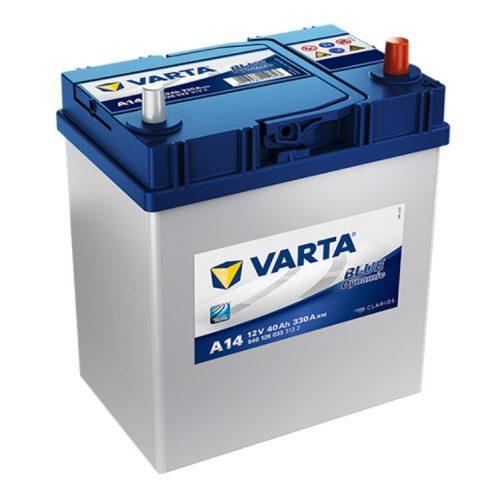 Varta Blue Dynamic 12V 40Ah 330A Jobb+ ázsiai autó akkumulátor (A14) - 540126