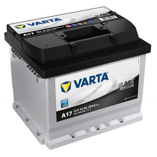 Varta Black Dynamic 12V 41Ah 360A Jobb+ autó akkumulátor (A17) - 541400