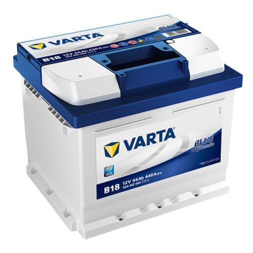 Varta Blue Dynamic 12V 44Ah 440A Jobb+ autó akkumulátor (B18) - 544402