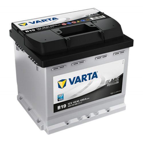 Varta Black Dynamic 12V 45Ah 400A Jobb+ autó akkumulátor (B19) - 545412