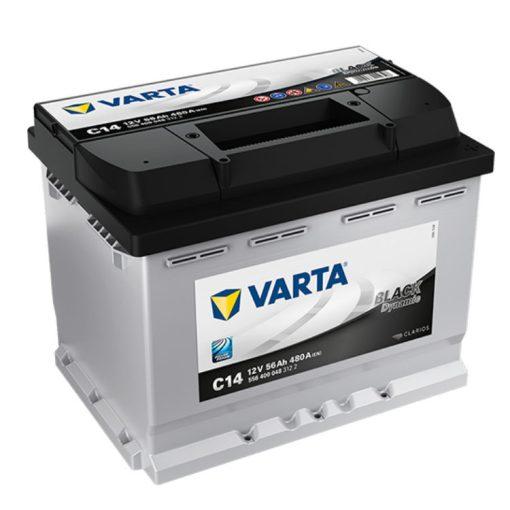 Varta Black Dynamic 12V 56Ah 480A Jobb+ autó akkumulátor (C14) - 556400