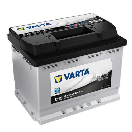 Varta Black Dynamic 12V 56Ah 480A Bal+ autó akkumulátor (C15) - 556401