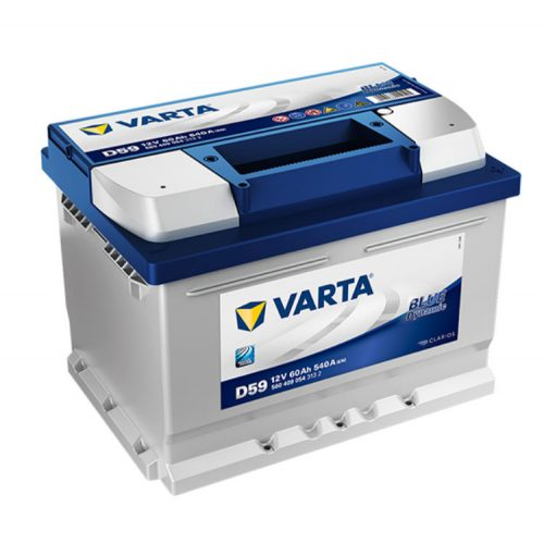 Varta Blue Dynamic 12V 60Ah 540A Jobb+ autó akkumulátor (D59) - 560409