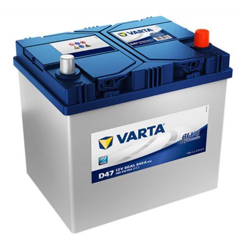 Varta Blue Dynamic 12V 60Ah 540A Jobb+ ázsiai autó akkumulátor (D47) - 560410