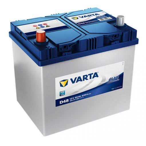 Varta Blue Dynamic 12V 60Ah 540A Bal+ ázsia autó akkumulátor (D48) - 560411