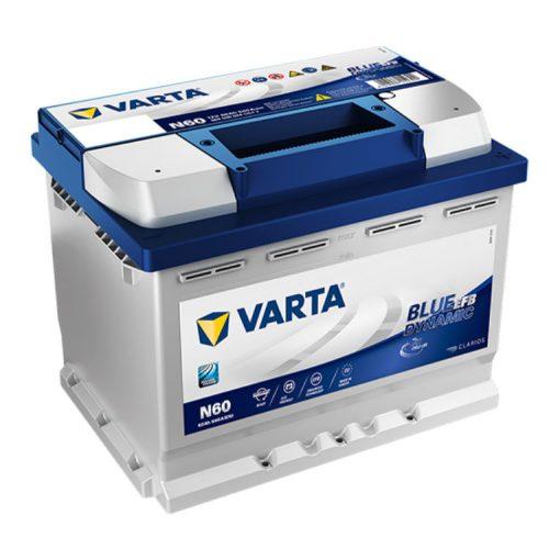 Varta Blue Dynamic EFB 12V 60Ah 640A Jobb+ autó akkumulátor (N60) - 560500