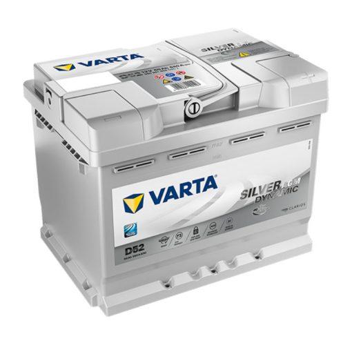 Varta Silver Dynamic AGM 60ah 680A Jobb+ autó akkumulátor (D52) - 560901