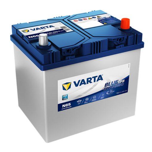 Varta Blue Dynamic EFB 12V 65Ah 650A Jobb+ ázsiai autó akkumulátor (N65) - 565501