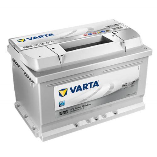 Varta Silver Dynamic 12V 74Ah 750A Jobb+ autó akkumulátor (E38) - 574402