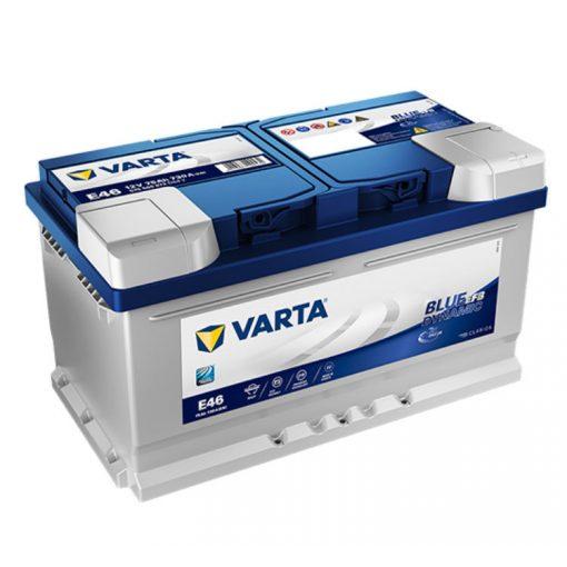 Varta Blue Dynamic EFB 12V 75Ah 730A Jobb+ autó akkumulátor - 575500