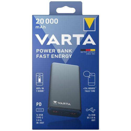 VARTA Portable Power Bank Fast 20000mAh töltő