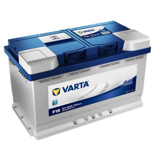 Varta Blue Dynamic 12V 80Ah 740A Jobb+ autó akkumulátor (F16) - 580400