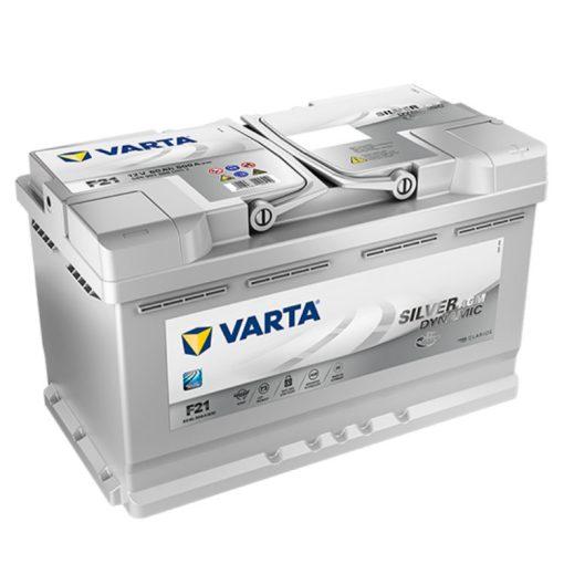 Varta Silver Dynamic AGM 80Ah 800A Jobb+ autó akkumulátor (F21) - 580901